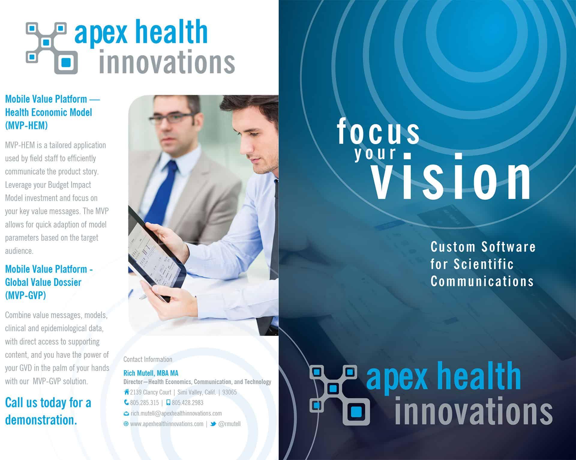 Apex brochure design outside